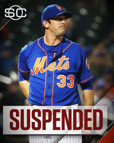 Matt Harvey Suspended